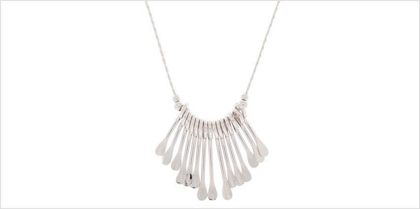 Go to Product: Silver Mini Bar Statement Necklace from Claires