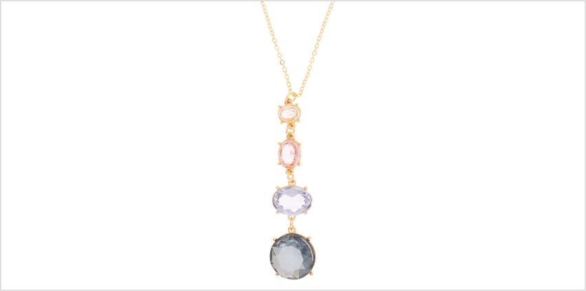 Go to Product: Gold Four Stone Pendant Necklace from Claires