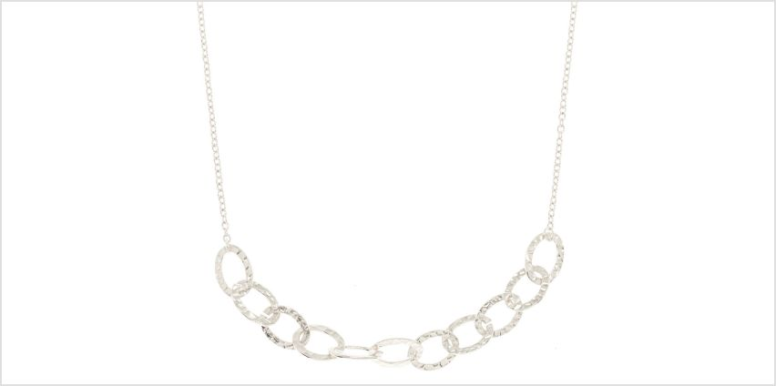 Go to Product: Silver Hammered Circle Chain Statement Necklace from Claires