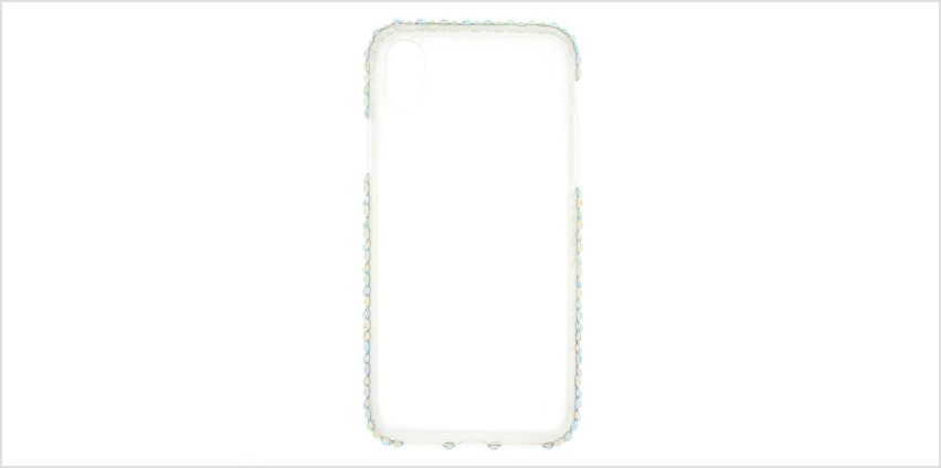 Go to Product: Iridescent Stone Studded Phone Case - Fits iPhone X/XS from Claires