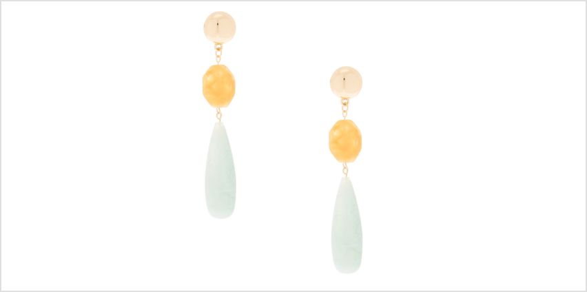 """Go to Product: Gold 3"""" Sherbert Beaded Drop Earrings from Claires"""
