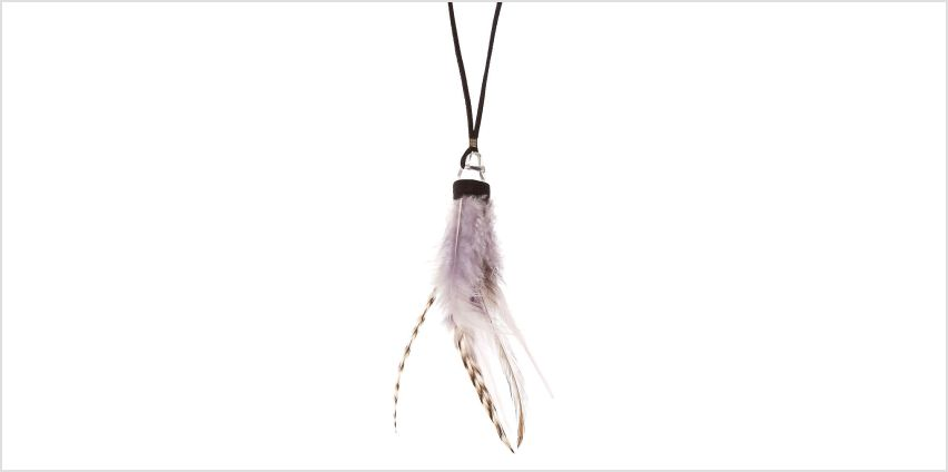 Go to Product: Feather Crystal Pendant Necklace from Claires