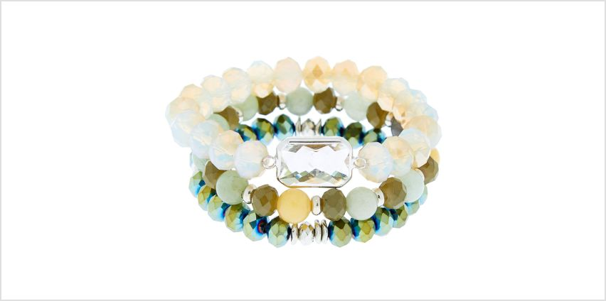 Go to Product: Beaded Stretch Bracelets - Green, 3 Pack from Claires