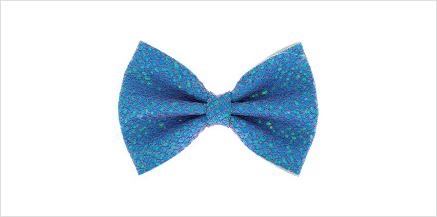 Go to Product: Mermaid Shine Hair Bow Clip - Baby Blue from Claires