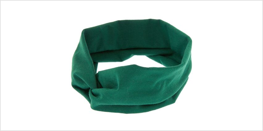 Go to Product: Wide Jersey Twisted Headwrap - Hunter Green from Claires