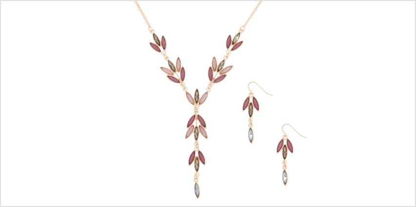 Go to Product: Gold Romantic Vine Jewellery Set - Lilac from Claires