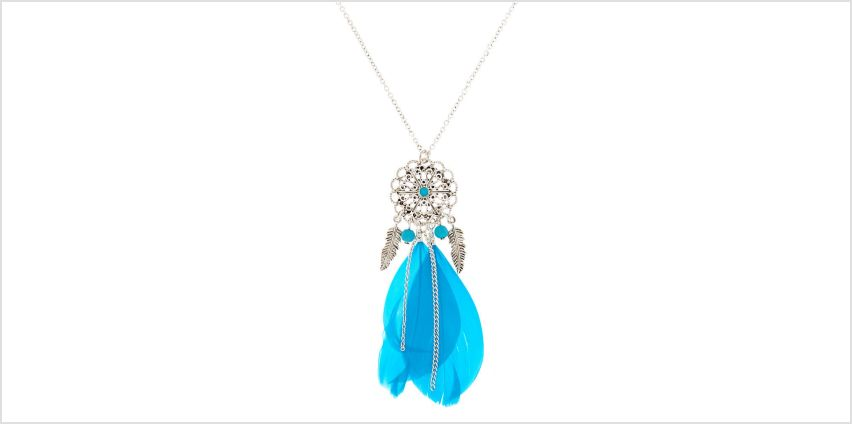 Go to Product: Silver Filigree Dreamcatcher Long Pendant Necklace - Teal from Claires