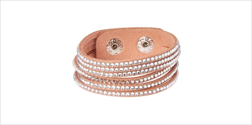 Go to Product: Studded Layered Wrap Bracelet - Pink from Claires
