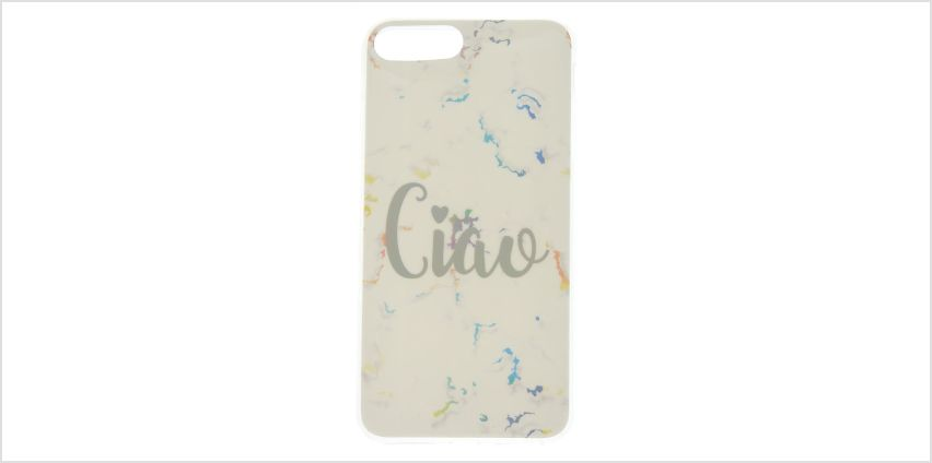 Go to Product: Ciao White Marble Phone Case - Fits iPhone 6/7/8 from Claires