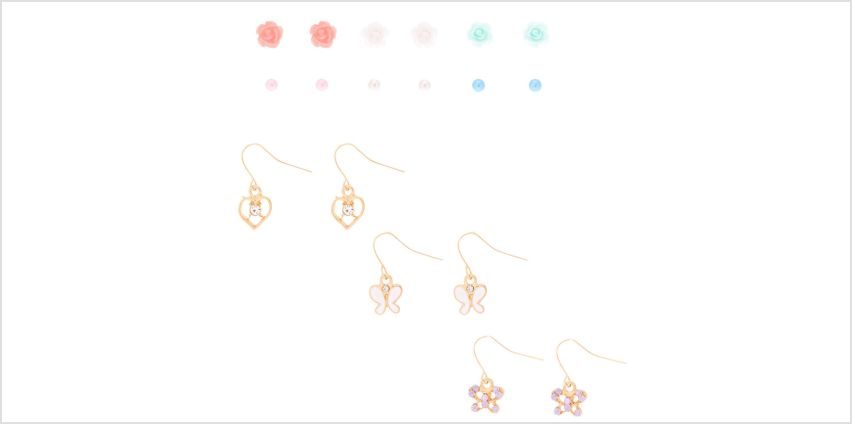 Go to Product: Dainty Spring Mixed Earrings - 9 Pack from Claires