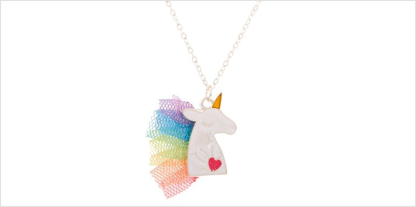 Go to Product: Claire's Club Unicorn Mane Pendant Necklace from Claires