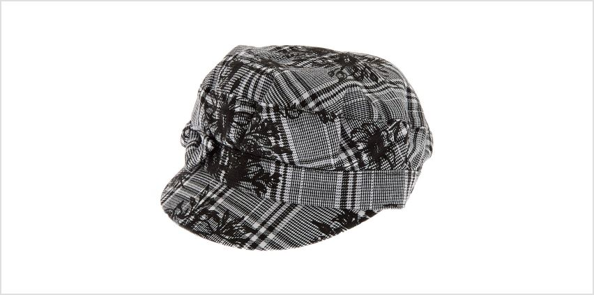 Go to Product: Glen Plaid Floral Captain Hat - Black from Claires