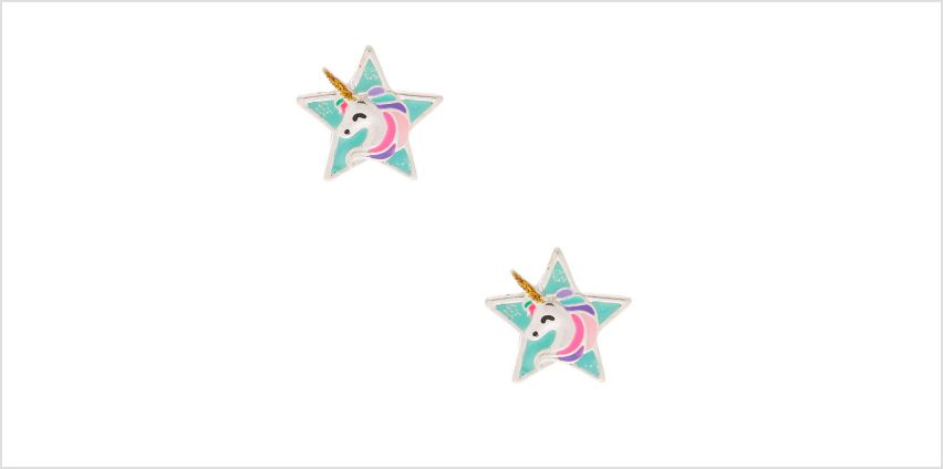 Go to Product: Unicorn Star Stud Earrings - Mint from Claires