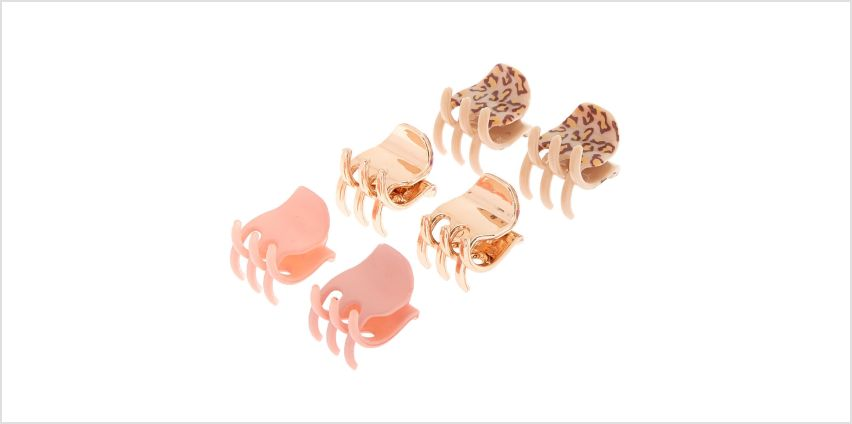 Go to Product: Leopard Print Mini Hair Claws - 6 Pack from Claires