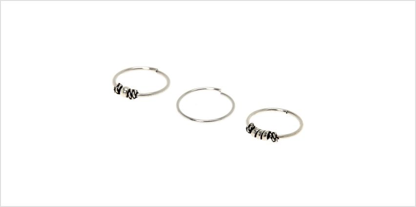 Go to Product: Silver and Gold Wave Thread Through Drop Earrings from Claires