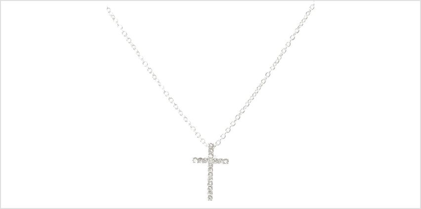 Go to Product: Silver Embellished Cross Pendant Necklace from Claires