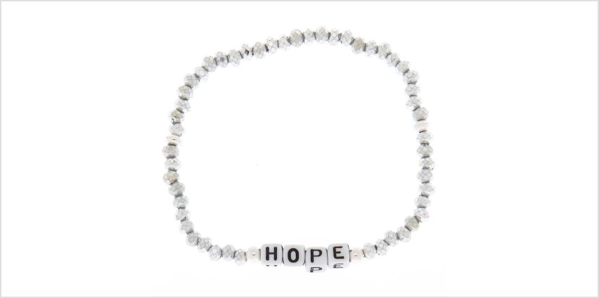Go to Product: Silver Hope Beaded Stretch Bracelet from Claires