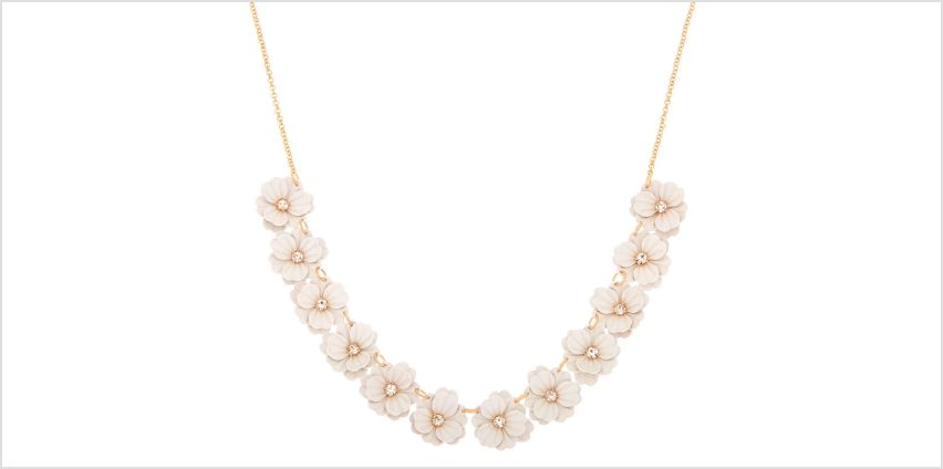 Go to Product: In Bloom Statement Necklace - White from Claires