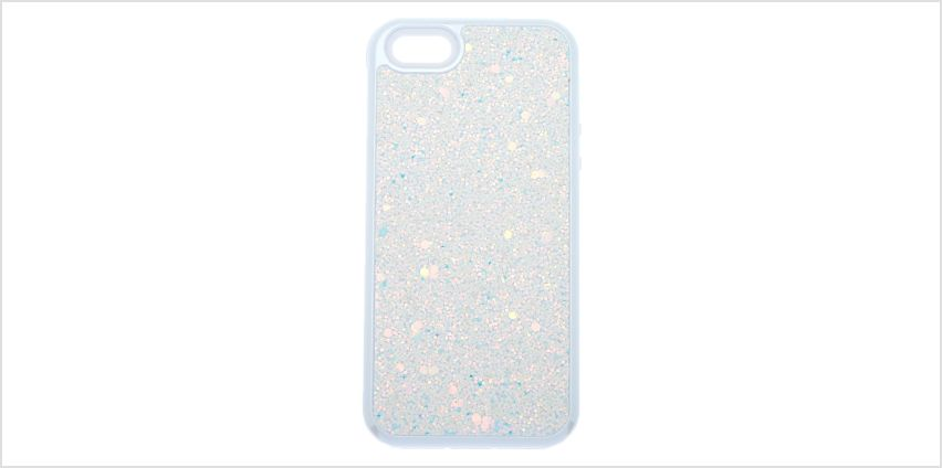 Go to Product: White Crushed Glitter Protective Phone Case - Fits iPhone 5/5S/SE from Claires