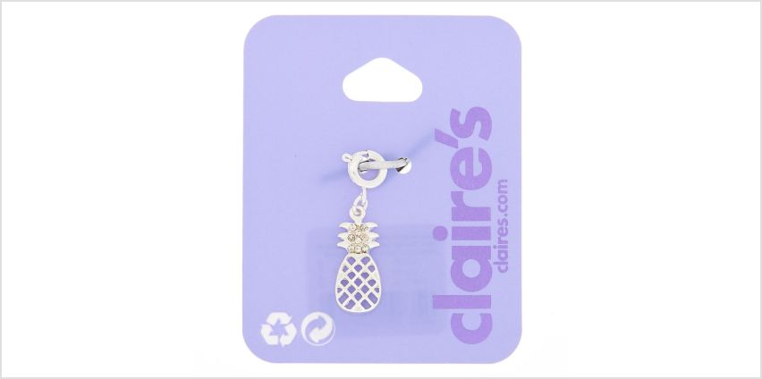 Go to Product: Silver Pineapple Bracelet Charm from Claires