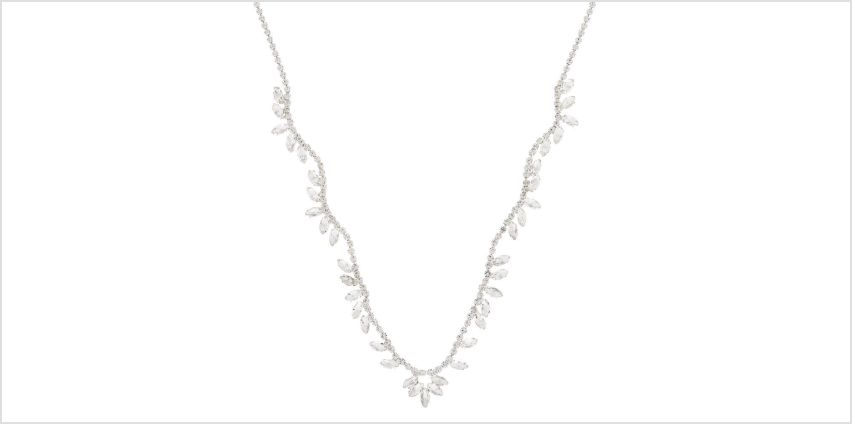 Go to Product: Silver Rhinestone Wave Leaf Statement Necklace from Claires
