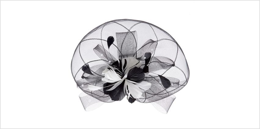 Go to Product: Feather & Lace Hair Fascinator - Black from Claires