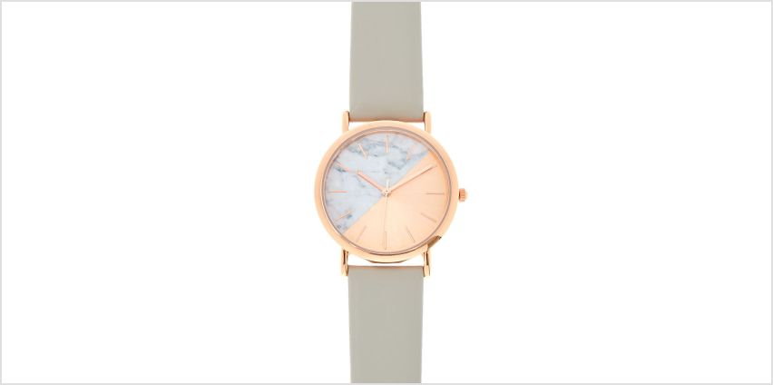 Go to Product: Rose Gold & Marble Classic Watch - Gray from Claires
