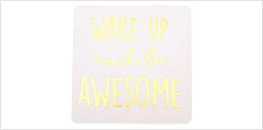 Go to Product: Wake Up And Be Awesome Word Block - White from Claires