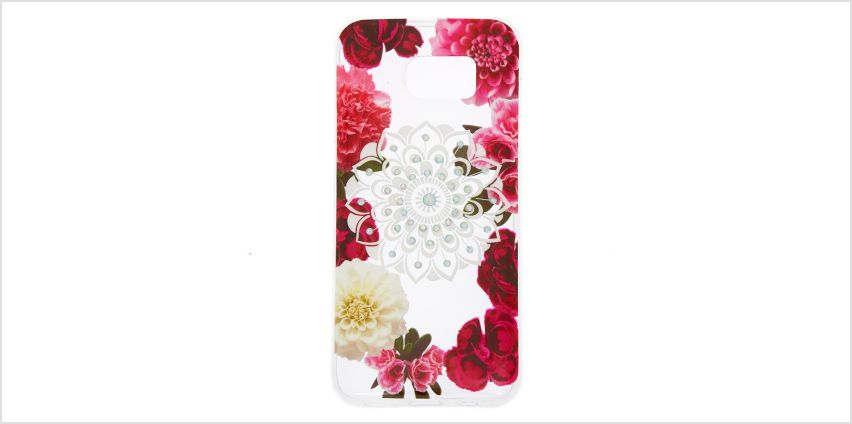 Go to Product: Floral Bling Mandala Protective Phone Case - Fits Samsung Galaxy S7 Edge from Claires