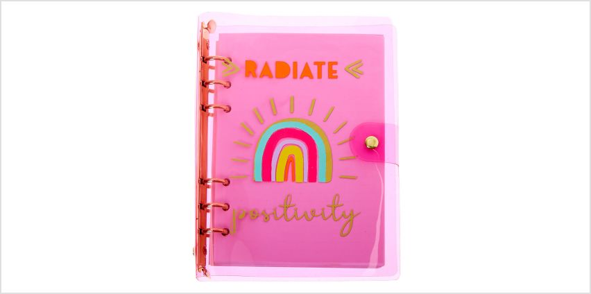 Go to Product: Radiate Positivity Rainbow Transparent Journal - Pink from Claires