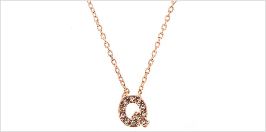 Go to Product: Rose Gold Studded Q Initial Necklace from Claires