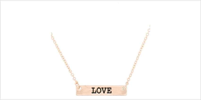 Go to Product: Gold Love Bar Pendant Necklace from Claires