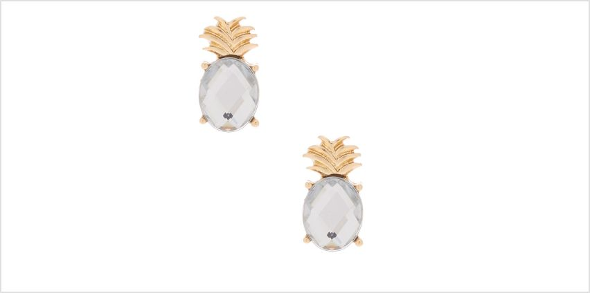 Go to Product: Gold Pineapple Gem Stud Earrings from Claires