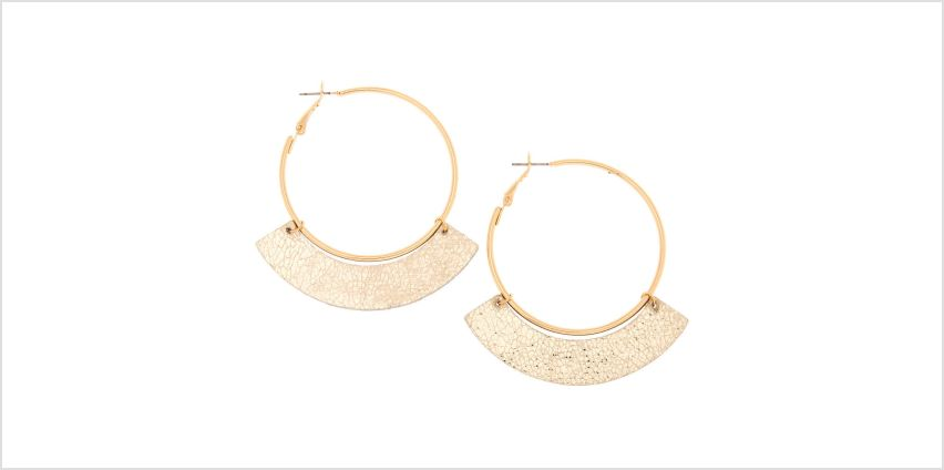 Go to Product: Gold 50MM Metallic Hoop Earrings from Claires