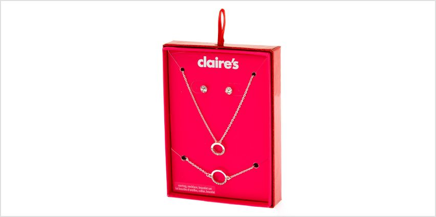 Go to Product: Silver Circle Jewellery Gift Set - 3 Pack from Claires