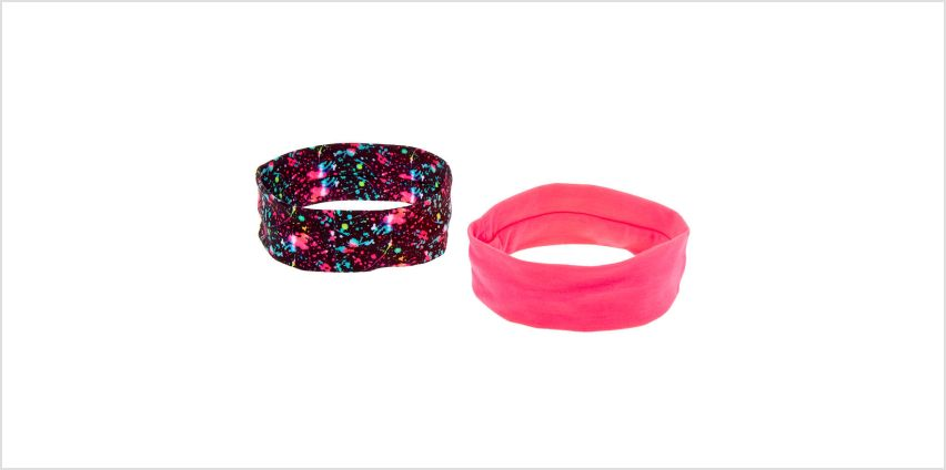 Go to Product: Neon Paint Splatter Headwraps - 2 Pack from Claires