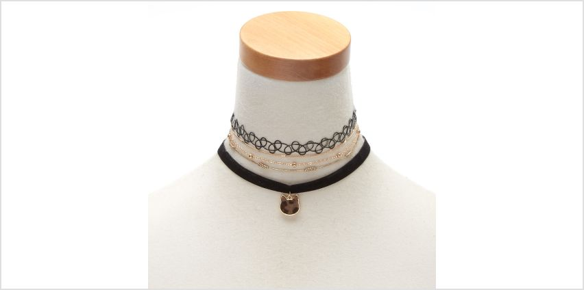 Go to Product: Gold Leopard Cat Choker Necklaces - 4 Pack from Claires