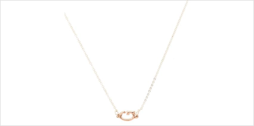 Go to Product: Mixed Metal Sideways Initial Pendant Necklace - G from Claires