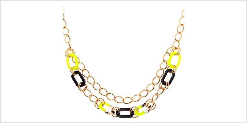 Go to Product: Gold Chain Statement Necklace - Neon Yellow from Claires