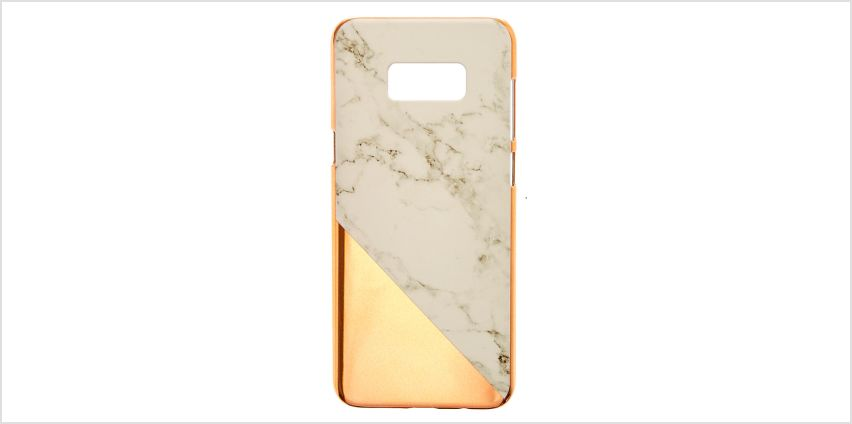 Go to Product: Rose Gold and Marble Phone Case - Fits Samsung Galaxy S8 Plus from Claires