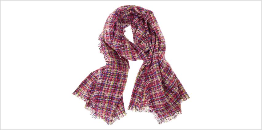 Colourful Marled Plaid Blanket Scarf from Claires