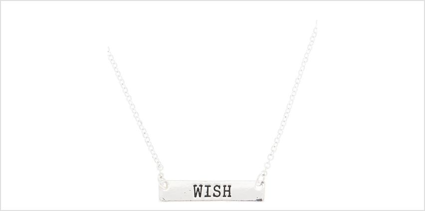 Go to Product: Silver Wish Bar Pendant Necklace from Claires