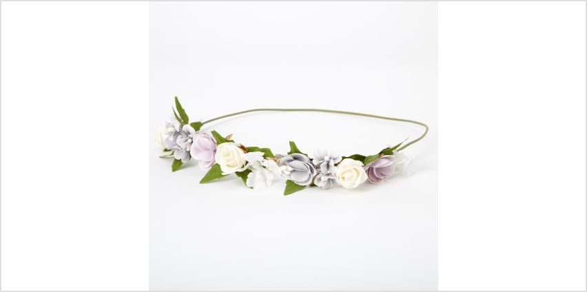 Go to Product: Gold Leaf Flower Crown Headwrap - Blue from Claires