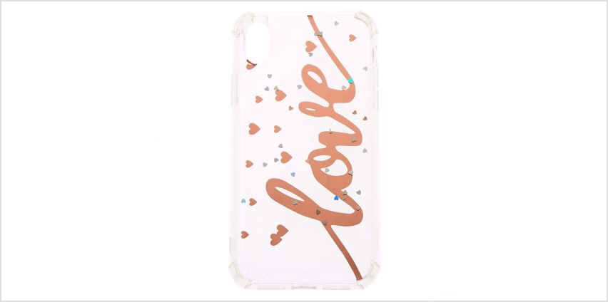 Go to Product: Rose Gold Love Protective Phone Case - Fits iPhone XR from Claires