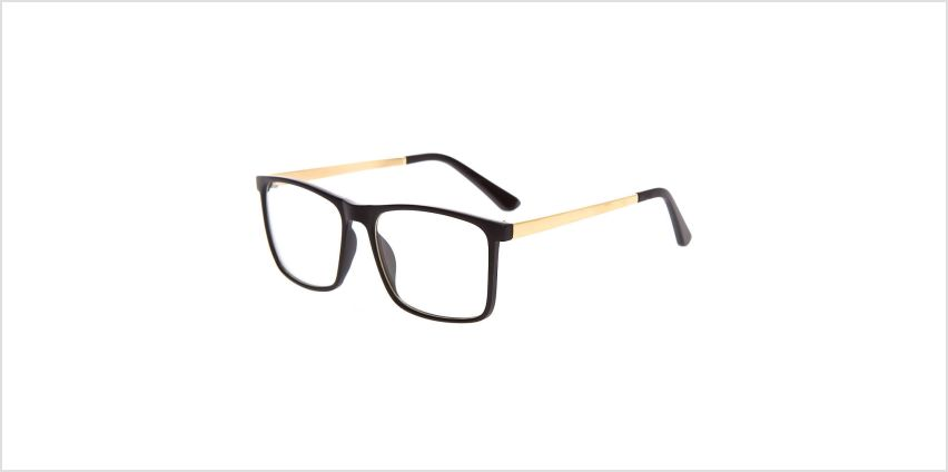 Go to Product: Gold Matte Retro Clear Lens Frames - Black from Claires