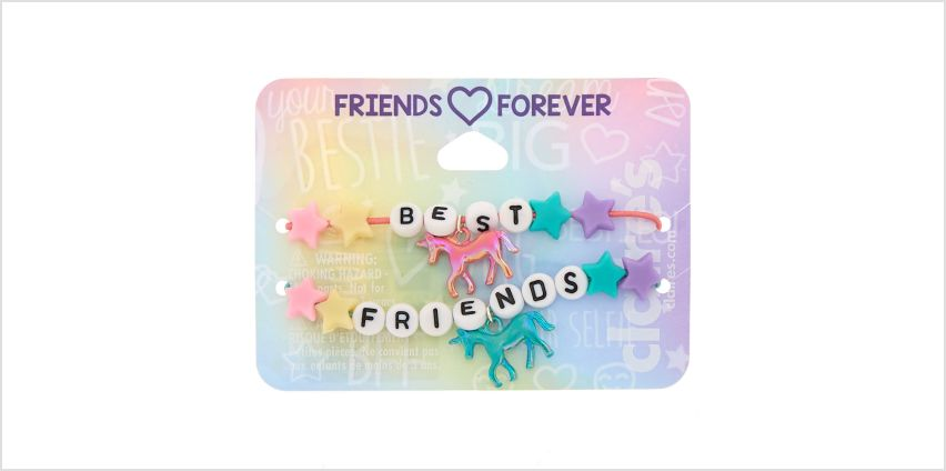 Go to Product: Cosmic Unicorn Beaded Stretch Friendship Bracelets - 2 Pack from Claires