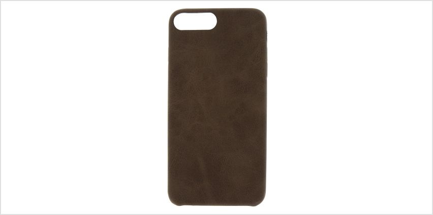 Go to Product: Brown Faux Leather Phone Case - Fits iPhone 6/7/8 from Claires