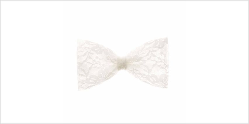 Go to Product: Lace Hair Bow Clip - Ivory from Claires