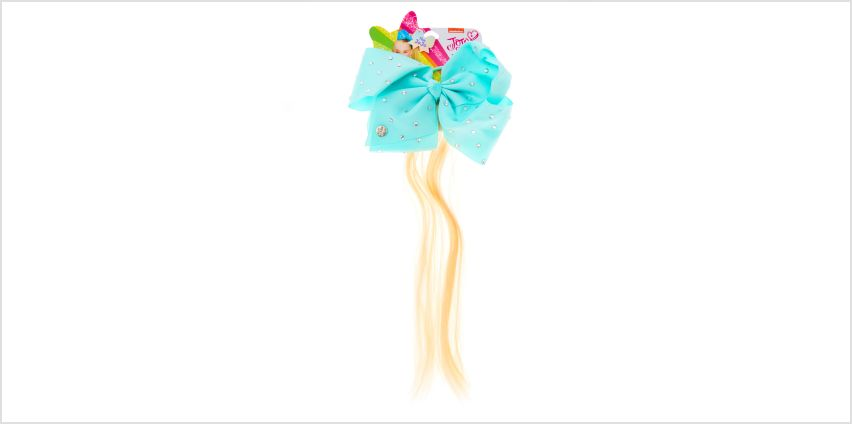 Go to Product: JoJo Siwa™ Faux Hair Mint Bow Ponytail from Claires