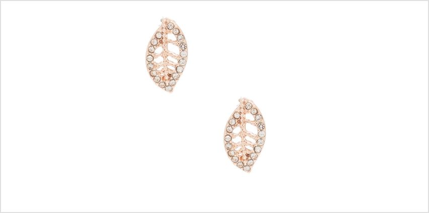 Go to Product: Rose Gold Crystal Leaf Stud Earrings from Claires